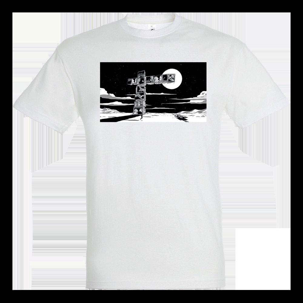 T-shirt blanc Croix